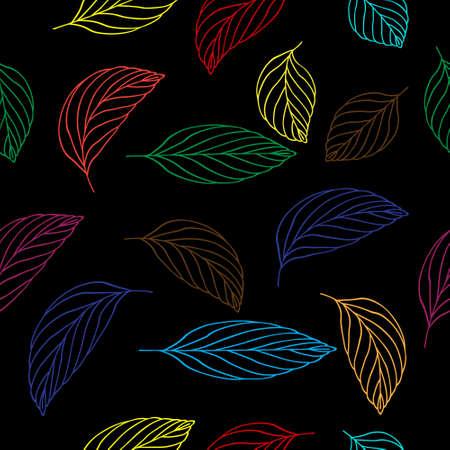 Elegance Seamless pattern with leaf, vector floral illustration in vintage style Illusztráció