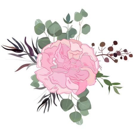 Delicate bouquet for your beloved, vector illustration for wedding and anniversary cards, banners, posters and cards. Vecteurs