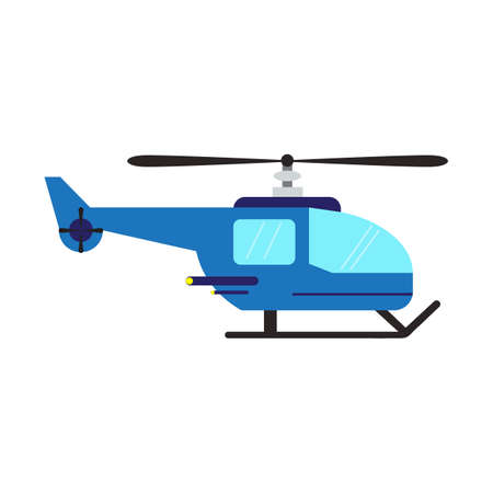 Helicopter aircraft vehicle symbol flat style. Vector illustration.