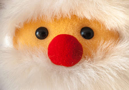Close-up portait of Santa Claus ragdoll with red nose Stock Photo
