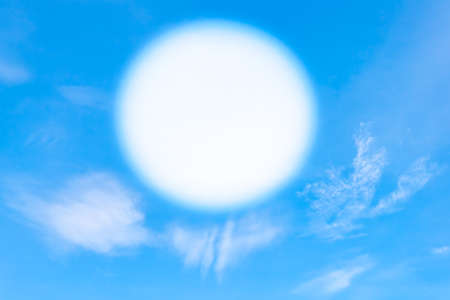 Blue sky with clouds with space to write Stock Photo