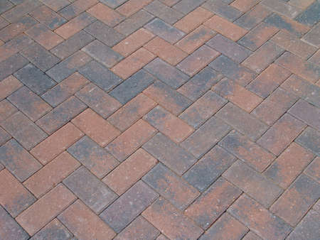 zig: Zig zag brick paving on driveway