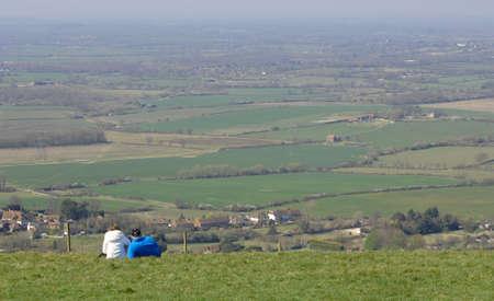 Beautiful view of rolling English countryside photo