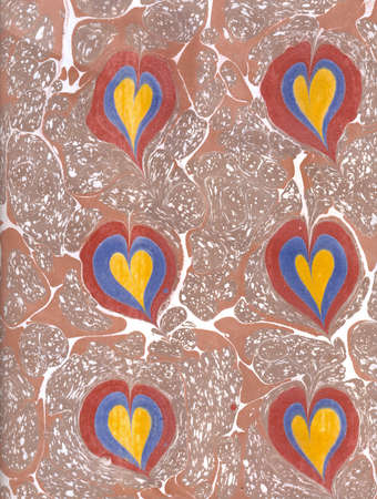 marbled effect: heart-shaped