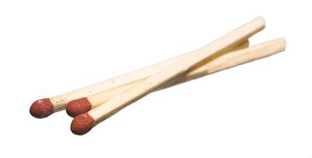 A macro photo of typical Danish matchstick Stock fotó