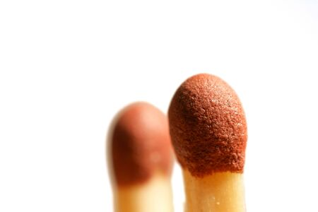 A macro photo of typical Danish matchstick Imagens - 965031