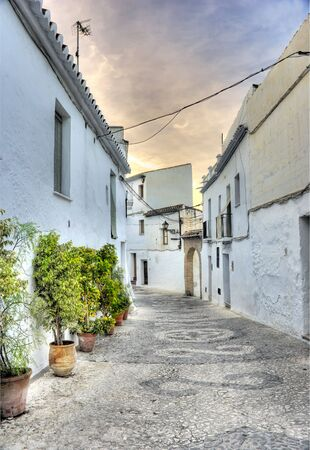 A cityscape photo of a traditional Spanish village (Costa Del Sol area) photo