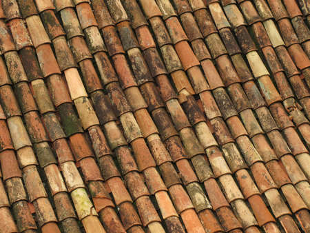 Old red roof tiles from spain Stock Photo - 6335175