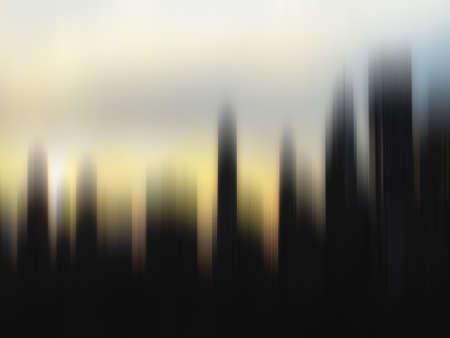 stark: Stark verschwommen Bewegung Skyline bei Sonnenuntergang, Manhattan, New York Lizenzfreie Bilder
