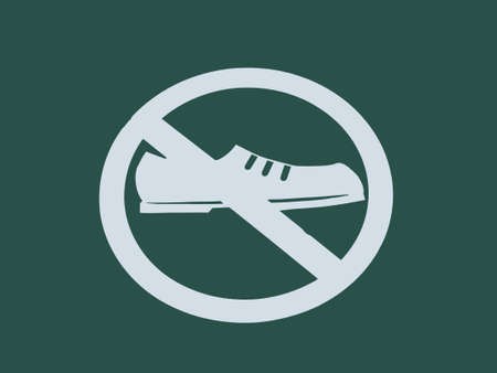 not allowed: No Shoes