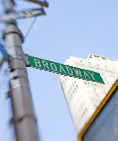 broadway: Traffic signs at Manhattan, New York