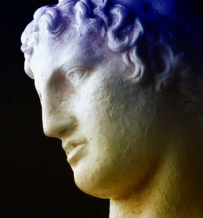 ancient philosophy: The Thinker - Ancient greek philosopher Stock Photo