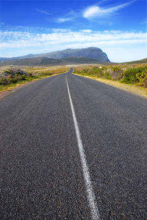 A road through South African wilderness photo