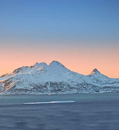 Photo of sunset North of the Polar Circle photo