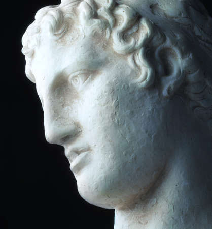 the thinker: Greek philosopher -  sad, deep, and enlighted