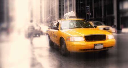 taxi in New York - LENS BLURRED