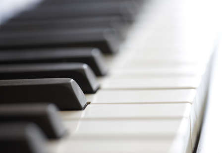 keyboard player: An old piano - close up  Stock Photo