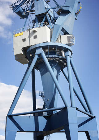 docker: A sharp and detailed a very huge and strong crane