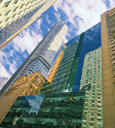 Skyscrapers - in Manhattan, New York, an early morning Stock Photo - 7465392