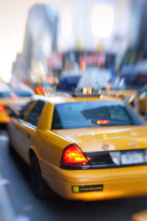 trafic: Taxi in the streets of Manhattan, New York