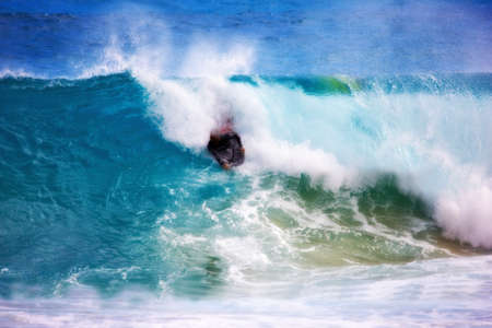 Surfing at Sunset Beach -  Hawaii Banque d'images