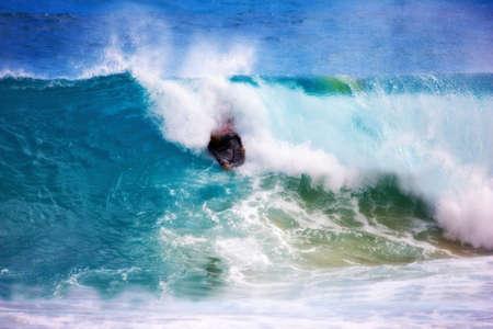 Surfing at Sunset Beach -  Hawaii photo