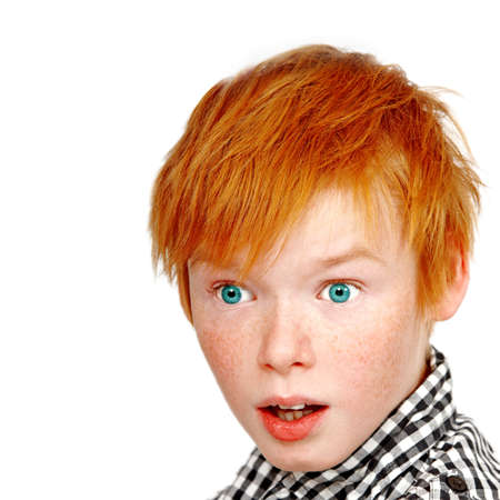 a photograph of a teenage boy looking surprised Stock Photo - 9030865