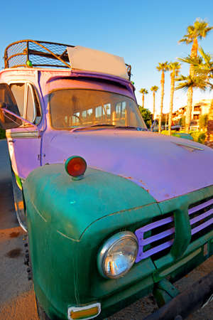 pinoy: A photo of an Old colorful tourist bus in Asia