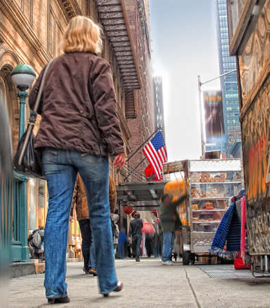 An image of street life at Manhattan, New York photo