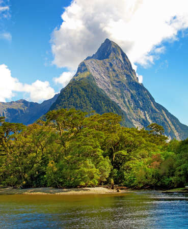 A photo of Milford Sound. South Island. New Zealand  photo