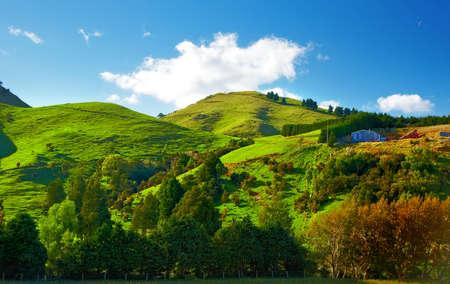 Ein Foto von schönen Landschaften von Neuseeland Standard-Bild