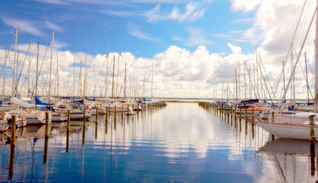 A photo of boats in summertime - Denmark Stock Photo - 9938172
