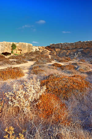 greek god: A photo of the Tombs of the Kings (Paphos) Cypres