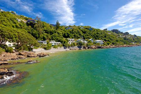 new zealand beach: a photo from the coast near Wellington, New Zealand Stock Photo