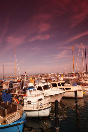 A photo of boats in summertime - Denmark Stock Photo - 10719784