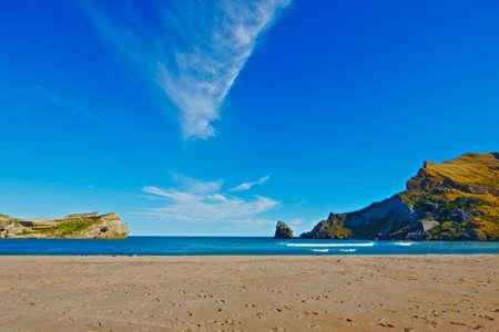 new zealand beach: A photo of a wonderful beach  - New Zealand