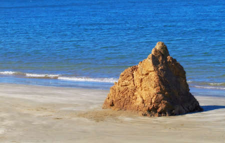 The famous rocks at Karaka Bay, Wellington, New Zealand photo
