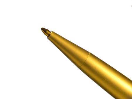 ball pens stationery: Una foto macro de un bolígrafo