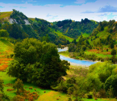 Landscape photo from New Zealand - nature and river Stock Photo - 10722160