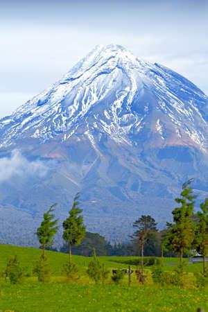 Ein Foto einer riesigen Vulkan - New Zealand Standard-Bild