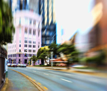 busy street: Street life in the city - illustrative, blurred image; daytime