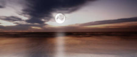 tranquillity: a photo of moonlight at the sea