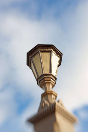 A photo of  Street lamp - lens blurred photo