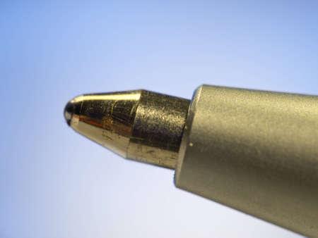 tip up: A macro photo a ball pen