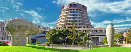 Eine der Innenstadt von Wellington, Neuseeland