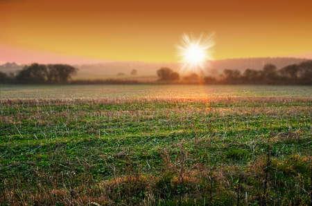A photo sunrise early morning Reklamní fotografie