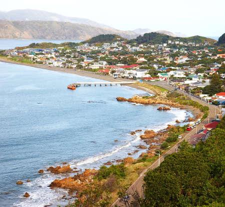 wellington: A  photo of a Wellington city on North Island, New Zealand.