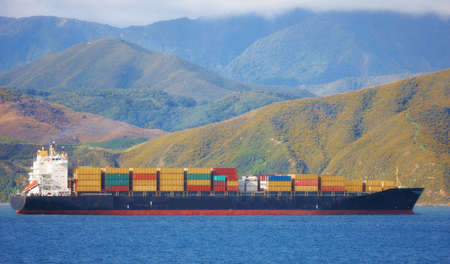 A  photo of large Cargo ship