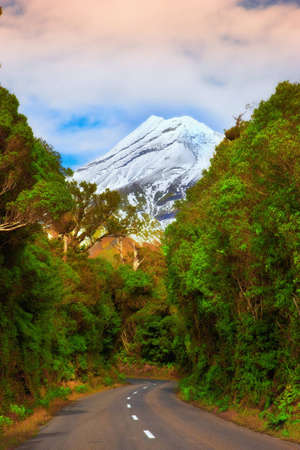 free climbing: A photo of volcano in New Zealand Stock Photo