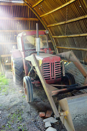 A photo of a old farming machines photo